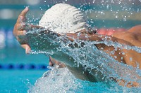 Australian swimmer doing butterfly stroke