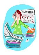 Woman overwork