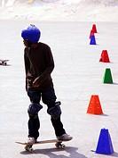 Teenager skateboard
