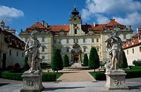 Barok Schloss Valtice, Mähren. Baroque palace Valtice, Moravia., Czech Republic