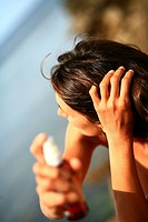 Hair sunscreen oil