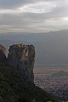 Monastery on a cliff, Holy Trinity Monastery, Meteora, Greece
