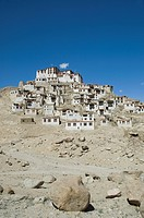 Monastery on a hill, Chemery Monastery, Ladakh, Jammu and Kashmir, India