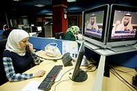 Female Worker at CNBC Studios at Media City, Dubai, UNITED ARABIAN EMIRATES