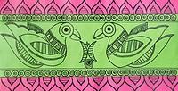 Close_up of a madhubani painting