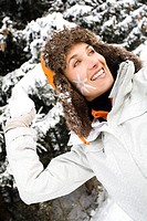 Woman snowball