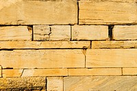 Close_up of an ancient stone wall, Athens, Greece