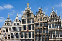 Belgium _ Flanders _ Antwerp _ Grote Markt, Grand Place _ The guild houses