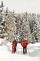 cross country ski,torgnon, valle d´aosta, italy