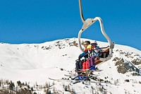 chair lift, pila, valle d´aosta, italy