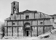 europa, italia, abruzzo, bazzano, la chiesa di santa giusta, 1910 1920
