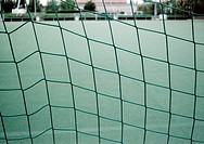Close_up of football goal