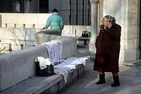 venditrice ambulante, budapest, ungheria
