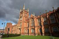 The Queens University of Belfast Lanyon building, belfast city centre, northern ireland, uk