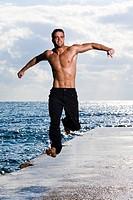 Man energy jump