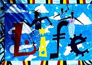 Nelsons Dockyard Antigua Rastafarian Wall Painting Life