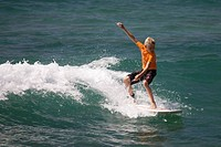 Surfing in Hikkaduwa, Sri Lanka