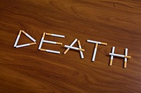 Cigarettes spelling the word Death