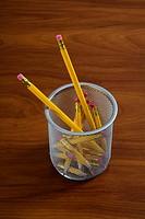 Pencils in a pencil holder