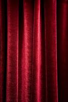 A red velvet curtain