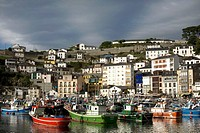 General view of the harbour in the town of Luarca in Asturias, northern Spain