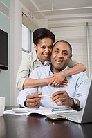 Couple doing home finances