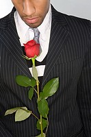 Man holding a red rose (thumbnail)