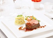 Fillet of beef and potatoes Sweden.