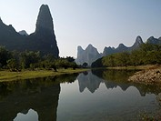 Li river running through Guangxi, China