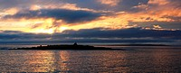Doolin Harbour, County Clare, Ireland, Sunset with Aran Islands