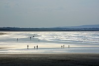 Enniscrone, Killala Bay, County Sligo, Ireland, View of beach