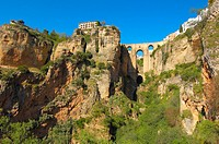 Puente Nuevo (new bridge) on ´tajo´ gorge, Ronda. Malaga province, Andalusia, Spain