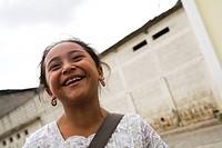 Patzicia,Guatemala,Central America,Smiling girl