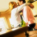 Blurred sink kissing