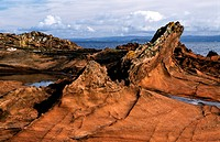 Rock plateaus in the Highlands, Scotland