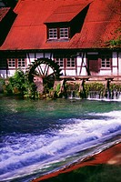 Water wheel, Blaubeuren, Germany
