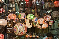 Colorful Lamps at Grand Bazaar Kapali Carsi, Istanbul, Turkey