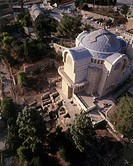 Aerial photograph of the Church of Eleona on the mount of Olives