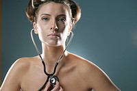 Young woman with stethoscope