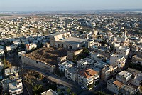Aerial photograph of the arab village of Shefar´am in the lower Galilee