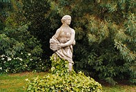 A sculpture in a park.
