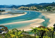 Tairua Harbour from Mount Paku Coromandel New Zealand