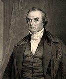 Daniel Webster 1782 to 1852  American lawyer, Senator, Secretary of State and orator  After a painting by Chester Harding