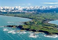 Kaikoura Peninsula aerial view New Zealand