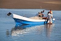 Fishing boat at Poneloya beach, Leon, Nicaragua