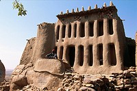 House of the 'hogon' (the spiritual leader) of Arou, Bandiagara Escarpment, Dogon Country, Mali
