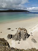 Sandy beach at Balnakeil near Durness in northern Scotland
