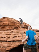Two rock climbers at Red Rock