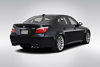 2010 BMW 5_series M5 in Black _ Rear angle view