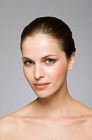 Female beauty model looking at camera